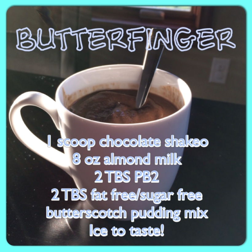 Shakeology recipe, Butterfinger shakeology, clean eating