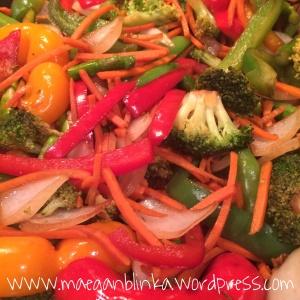 Veggie stir fry, 21-day fix, Clean eating, Vegan meal,