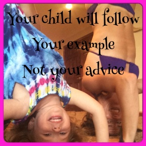 piyo, piyo progress, fit mom, leading by example, leader, lead by example not advice, headstand, fun with kids