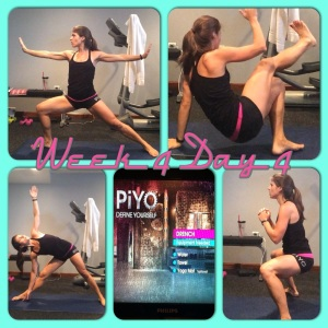 PIYO, meal plan, piyo progress, week 4 piyo, home workout, fit mom, inspiration, yoga, pilates, piyo, shakeology, DRENCH, get fit, strong not skinny