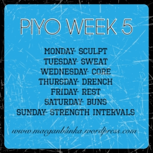 piyo week 5 schedule, PIYO PROGRESS