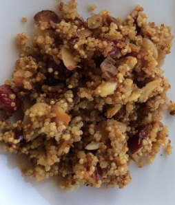 almond quinoa, cranberry quinoa, piyo meal plan, 21-day fix meal plan, side dish, clean eating, quinoa