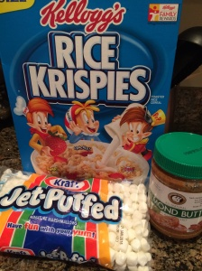 Rice Krispy treats with a twist, Almond butter rice krispy treats