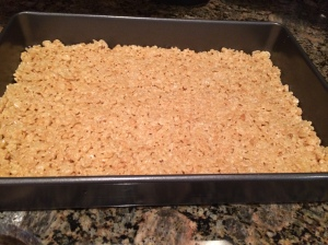 Almond butter rice krispy treats