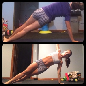Side plank, PIYO progress