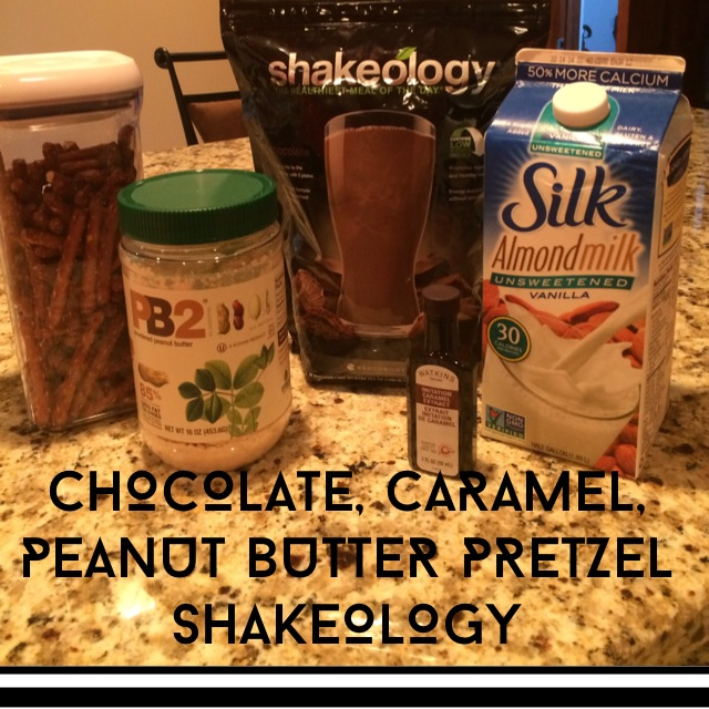 Chocolate shakeology recipe, PB Pretzel shakeology, healthy snack, healthy ice cream, meal replacement, Shakeology recipe, Sweet tooth craving