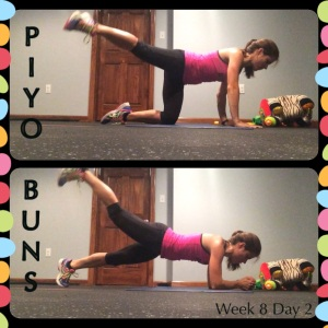 PIYO BUNS, PIYO Week 8, PIYO Progress