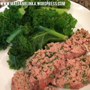 Turkey spinach meatloaf, clean eating, gluten and dairy free meatloaf, 21-day fix