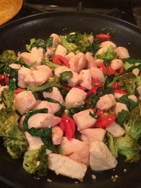 chicken and veggie pasta 4