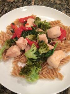 chicken and veggie pasta 5