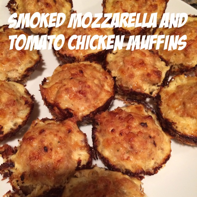 Smoked Mozzarella and tomato chicken muffins, gluten free dinner, ground chicken, new recipe idea, fast and healthy dinner, 21 day fix approved recipe dinner idea