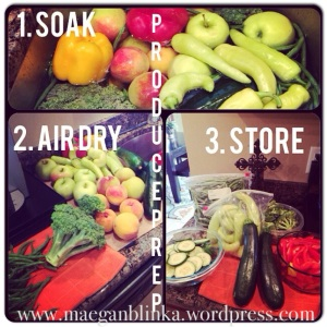 meal plan, how to make your produce last, produce prep,