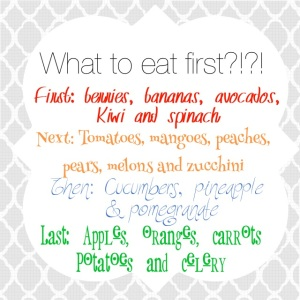 what order to eat produce, how to keep your produce lasting longer, make less trips to the grocery store, grocery shopping tips
