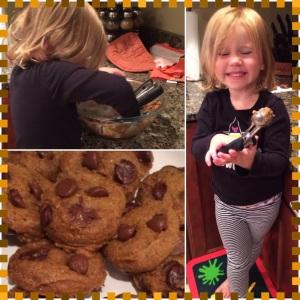 Pumpkin choc chip cookies_collage