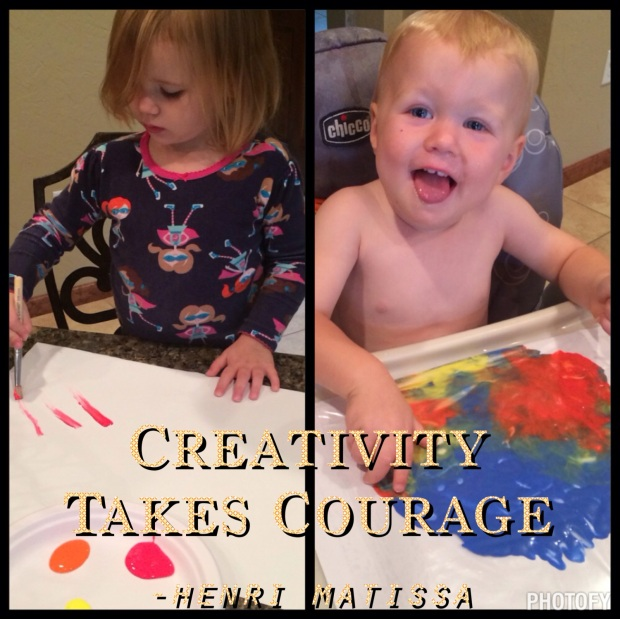 busy mom tip, Maegan Blinka, paint craft for toddlers, painting without the mess, rainy day activity, creativity takes courage