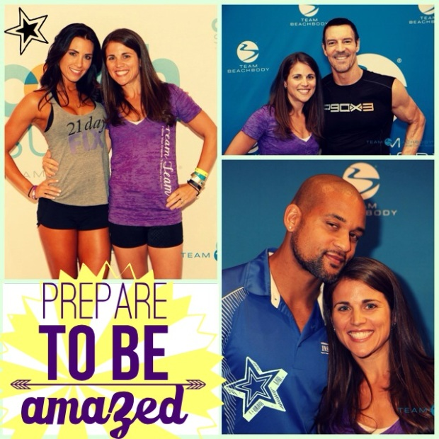 Hanging out with some of the trainers - Autumn Calabrese (21-day fix), Tony Horton (P90 and P90X series) Shaun T (Insanity, T25)
