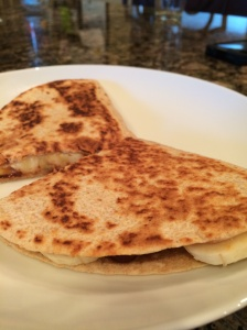PB banana quesadilla_cooked
