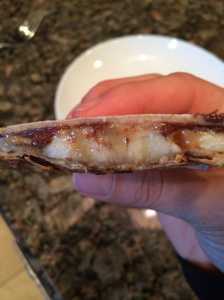 PB banana quesadilla_open