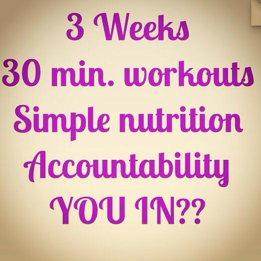 3 weeks of accountability