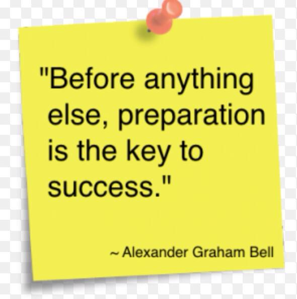 before anything else preparation is key