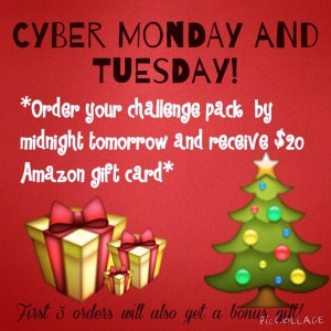 cyber tuesday beachbody offer, challenge pack special, shakeology sale,