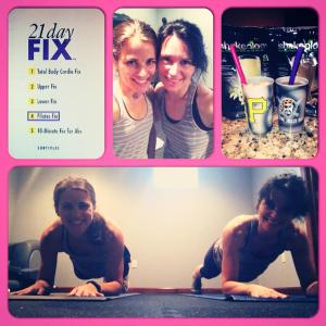 Mother daughter sweat session - accountability goes a long way!
