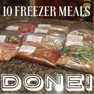 Freezer meals prepped, freezer meal party, Asian Ginger plum stir fry, 21 day fix meal plan, Insanity Max 30 meal plan approved, stir fry, freezer meal, wildtree veggie medley freezer meal workshop, clean eating, Asian citrus vinaigrette, homemade dressing,