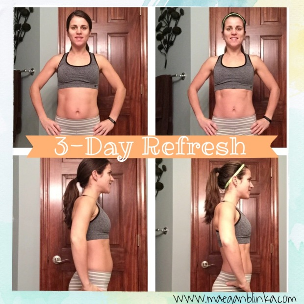 What is the 3 day refresh, 3 day refresh results, 3 day refresh with Insanity Max 30, Max 30 week 6, Maegan Blinka, What do you eat on the 3 day refresh, 3 day refresh meal plan