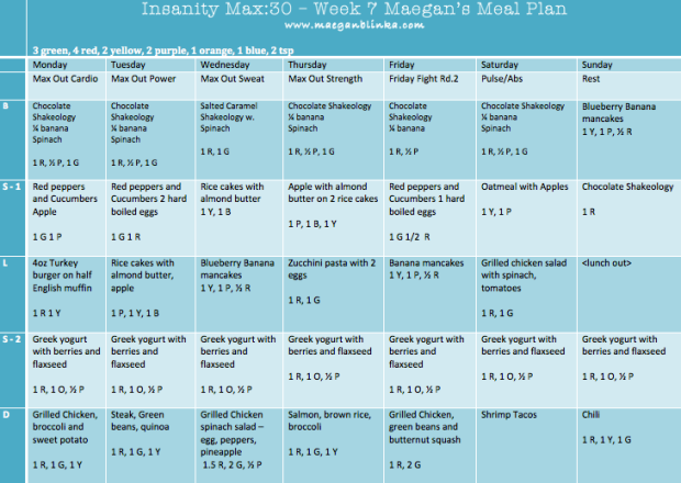 Insanity Max: 30 Meal Plan Week 7, Insanity Max 30 Week 6 do it anyway, Insanity Max: 30 week 6, Max out cardio, Maegan Blinka