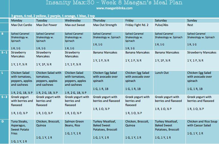 insanity max 30 prep for final week maegan blinka