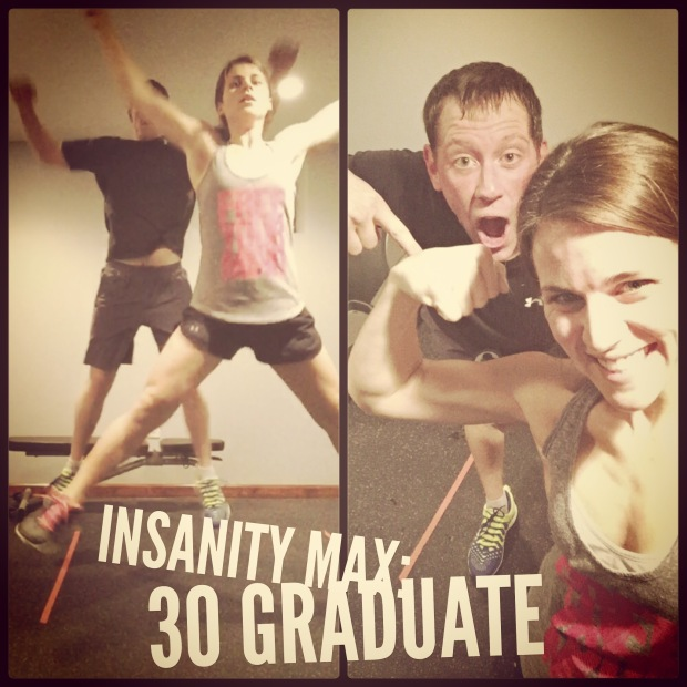 Maegan Blinka, Insanity Max 30 Graduate, Insanity Max 30 Results, Friday Fight Round 2, workouts with the hubby, Accountability Partner,