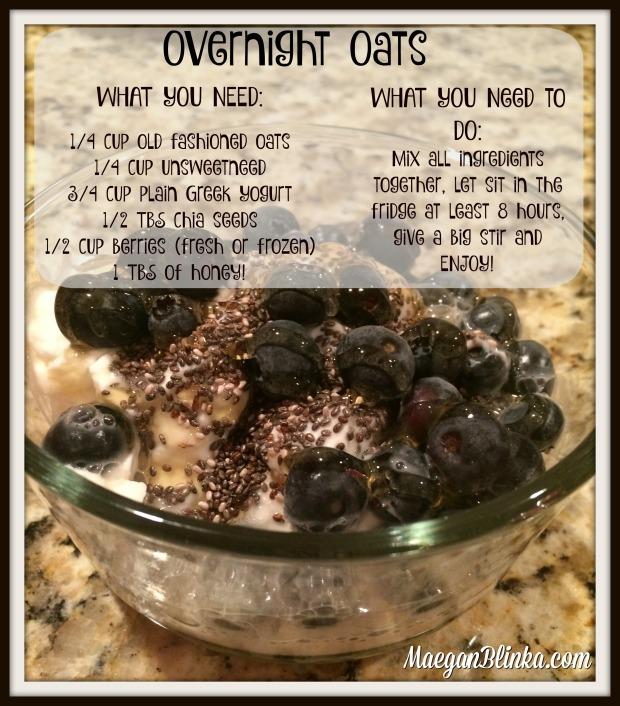 Greek yogurt overnight oats with recipe and web address