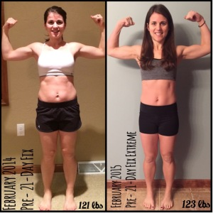 21 day fix FAQs, how frequently should you do the 10 minute ab fix, when will the FIXATE cookbook be available, where can you buy the FIXATE cookbook, can you eat PB2 on the 21 day fix, Can you eat quest bars or kind bars on the 21-day fix, how many egg whites equal one red container, can you do the 21 day fix while pregnant and or breastfeeding, what is the 3 day quick start, can you drink Shakeology on the 3 day quick start, why are peanuts both an orange and a blue, can you eat popcorn on the 21 day fix, what is the serving size for one yellow of popcorn on the 21 day fix, what sweeteners are 21 day fix approved, what should you do if you can not finish all your meals or if you're starving on the 21 day fix,  Maegan Blinka, Megan Blinka, 21 day fix results, 21 day fix extreme results, before pictures, does the 21 day fix extreme work, food is fuel, Results with the 21-day fix extreme
