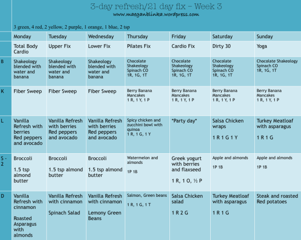21 day fix meal plan with refresh_wk of 6_15