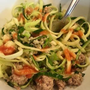 spicy zucchini quinoa bowl