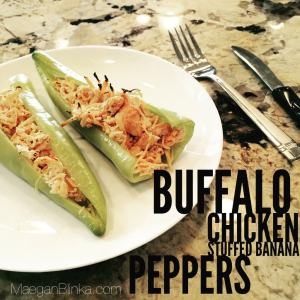buffalo chicken stuffed banana peppers, Maegan Blinka, Megan Blinka, Tailgating ideas, crockpot tailgating ideas, crockpot dip recipes, healthy and clean tailgating options, recipe to take to party, recipe ideas for football season, football tailgating ideas, buffalo chicken dip, crockpot dip, spicy dip ideas, red hot recipe ideas,