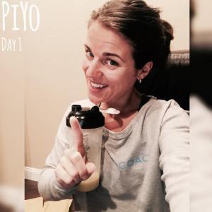 PIYO Day 1, Maegan Blinka, Megan Blinka, Piyo journey,  results with PIYO, High intense cardio program with low impact,