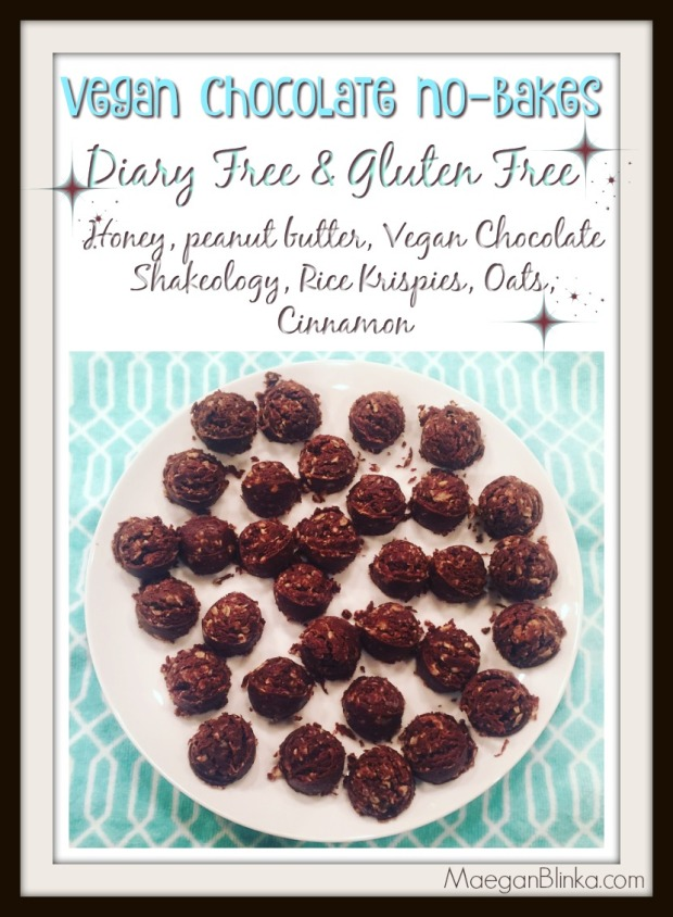 Vegan chocolate no bakes with border