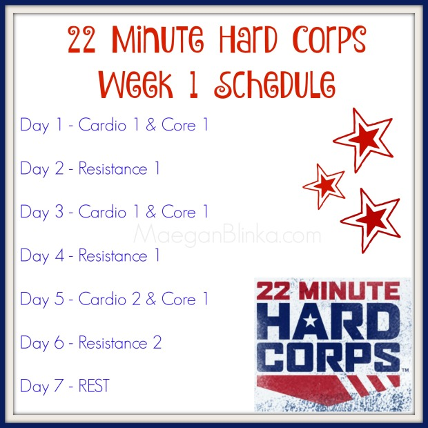 22 minute hard corps week 1 schedule