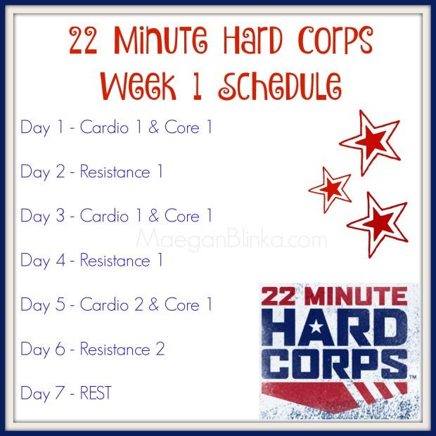 22 minute hard corps week 1 schedule