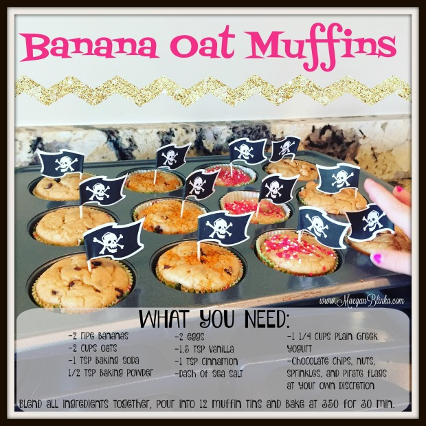 Banana oat muffins with recipe and website