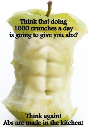 Day 10 Clean Eating-Abs in Kitchen