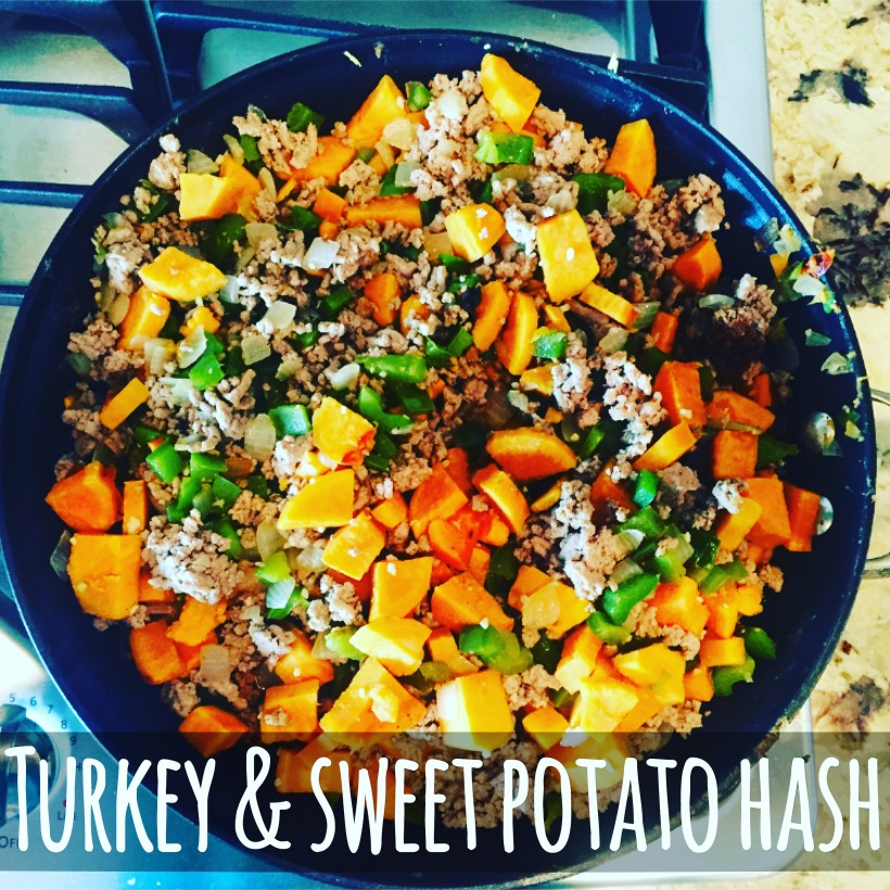 Maegan Blinka, Megan Blinka, Gluten Free, Turkey and Sweet Potato Hash, Gluten free fix approved recipe, Sweet Potato recipe, One pot weeknight meal idea, comfort foods, Country Heat nutrition guide, Country Heat Meal Plan