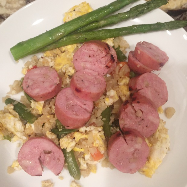 cauliflower-fried-rice-with-sausage