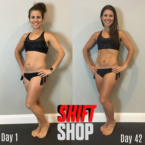 6 week transformation in bikini with logo and website