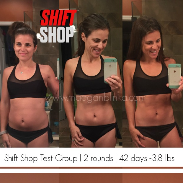 6 week transformation mirror selfie with website and logo