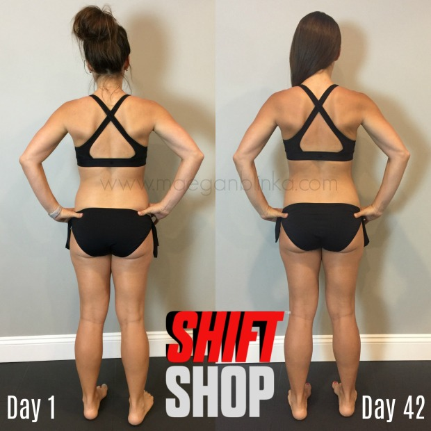 6 week transformation with logo and website back
