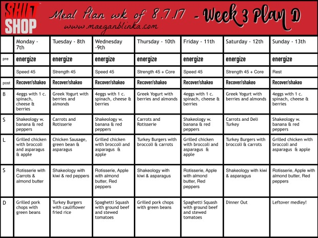 Shift Shop Meal plan week 3 week of 8_7_17 Kyle