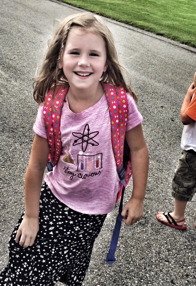Aubrie back to school picture 2017 first grade