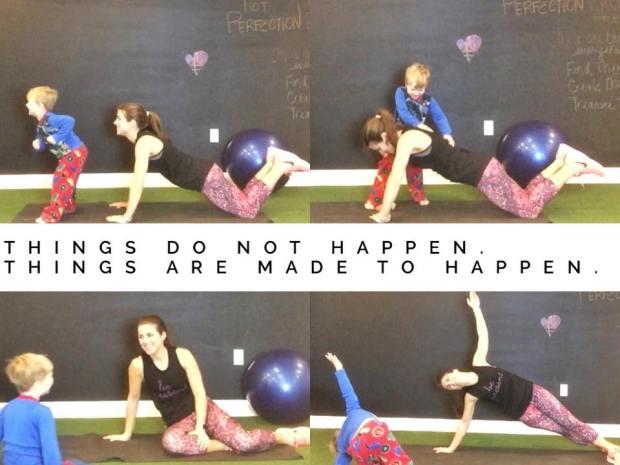 PIYO workout with kids make it happen